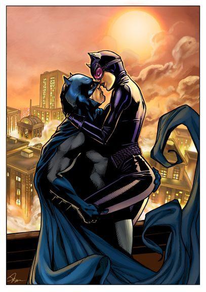 Batman & Catwoman. Wish I could cite the illustrator.