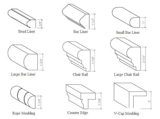 chair rail molding styles mouldings chair rail molding interior rh pinterest com Chair Rail Molding Ideas Picture Rail Molding Profile