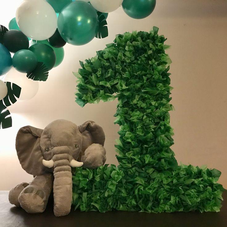 Aiden's first birthday! #jungle #birthday #party #balloons #babyshower #baby #babyboy #babygirl #diy