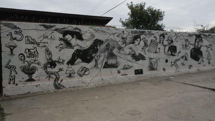 Mural en la Avenida Alemania de Valparaíso, versión completa.