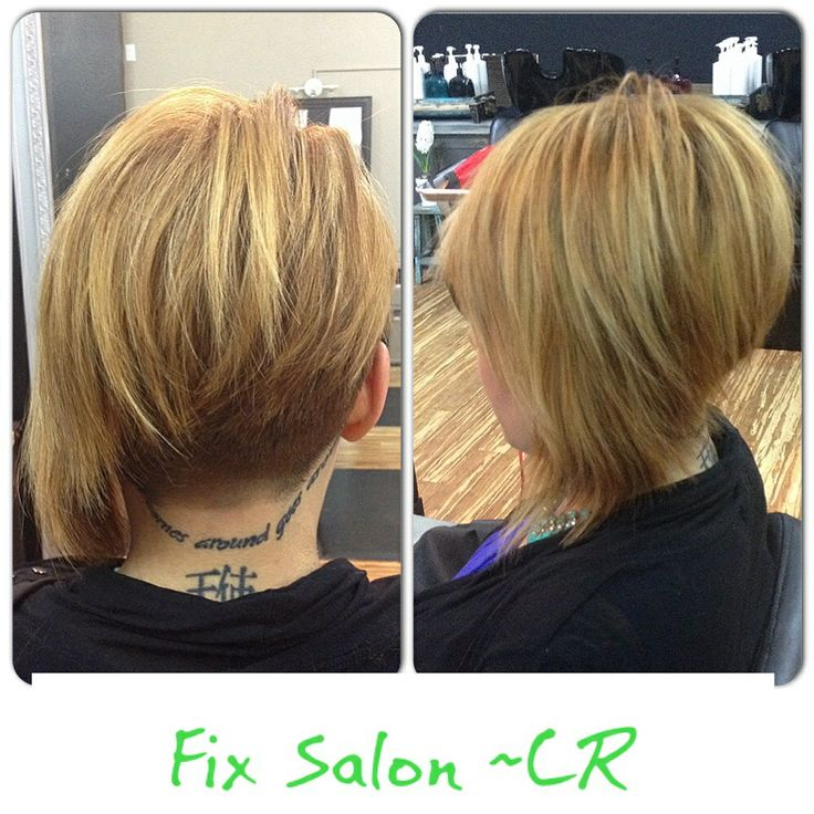 One side shaved undercut bob asymmetrical short haircut ~ Stylist Shauna / Fix Salon CR 2014