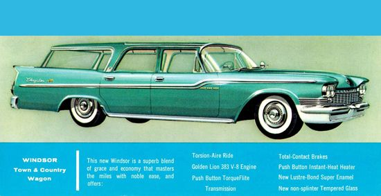 Chrysler Windsor Town N Country Wagon 1959 - Mad Men Art: The 1891-1970 Vintage Advertisement Art Collection