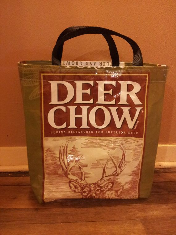 Farmers Market Recycled Feed Bag Tote  Deer Chow by RecycledUseful, $15.00