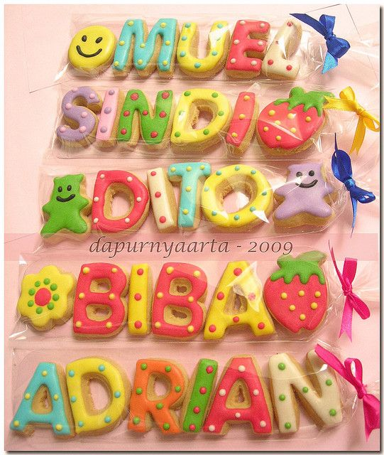 gallery of alphabetical cookies | alphabet cookies - Endah | Flickr - Photo Sharing!