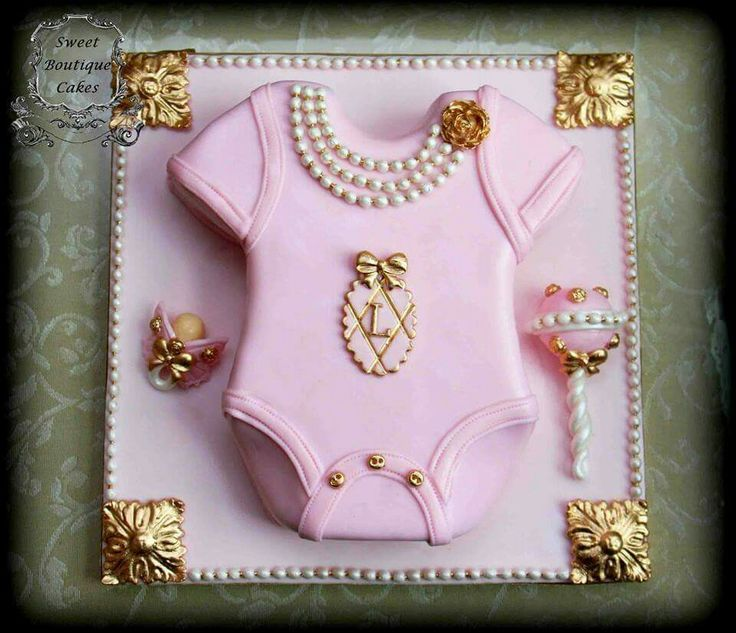 Pink onsie cake fit for a princess!