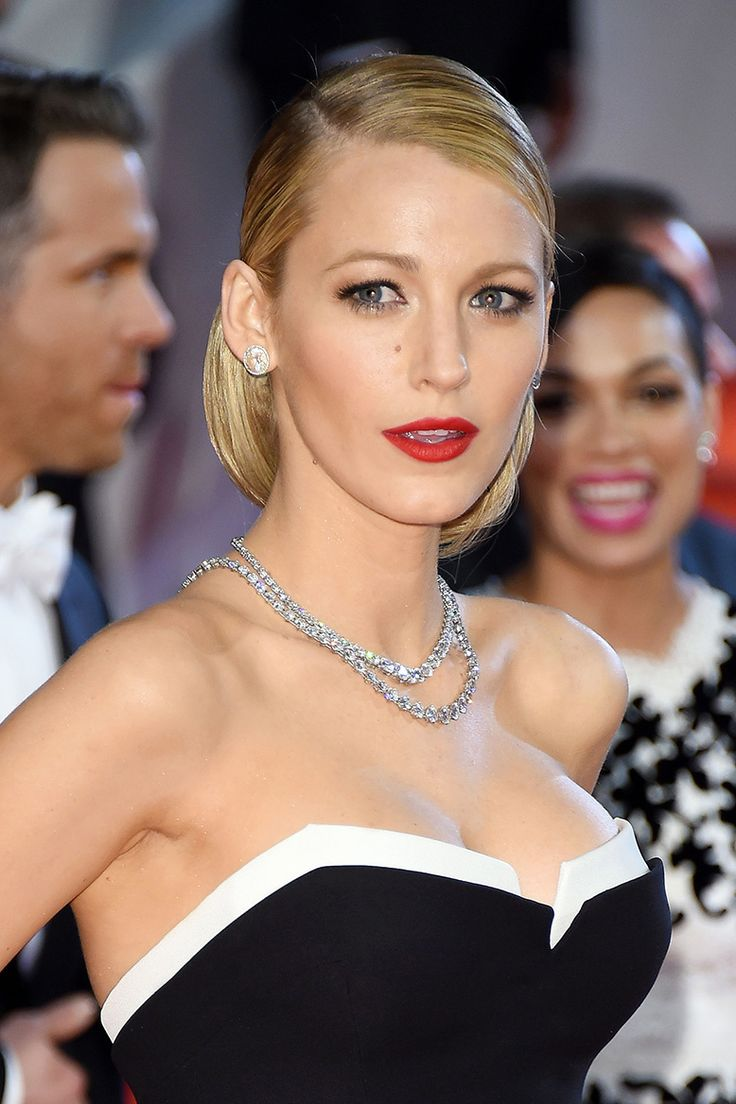 Best Hairstyleat#Cannes2014 Blake Livelyin a Retro Round Volume Low Updo #Hairstyle at the Red Carpet during #Cannes Film Festival 2014