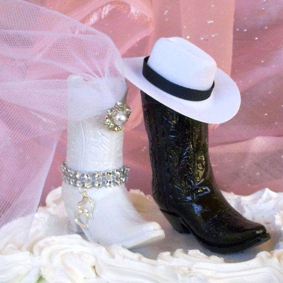 Rustic Wedding Cake Topper  Western Wedding by MrandMrsCakeToppers