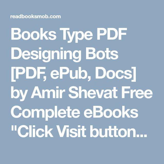 48 best my books images on pinterest books type pdf designing bots pdf epub docs by amir shevat free fandeluxe