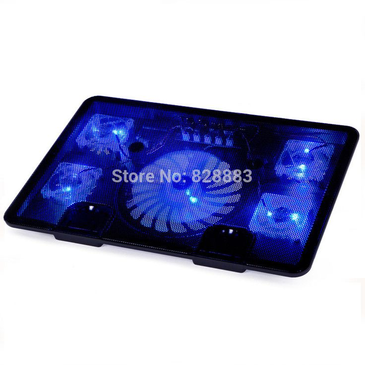 "Notebook cooling pad Blue LED Laptop Cooler 5 Fans 2 USB Port Stand Pad for Laptop 10-17"" PC usb cooler for notebook +USB Cord"