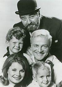 Family affair 1967.  Cast of show: Kathy Garver (Cissy), Anissa Jones (Buffy), Johnny Whitaker (Jody), Brian Keith (Bill Davis), and Sebastian Cabot (Mr. French).