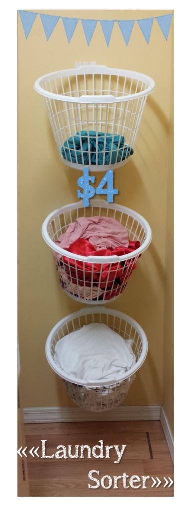 DIY Laundry Sorter for ONLY $4!