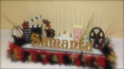 Red Hollywood Movie Name Board, Sweet 16, Quinceanera Party, Personalized Table Decoration, Two-Tier Centerpiece, Bat Mitzvah Name Board by CreativeCraftRooms on Etsy https://www.etsy.com/listing/270697529/red-hollywood-movie-name-board-sweet-16