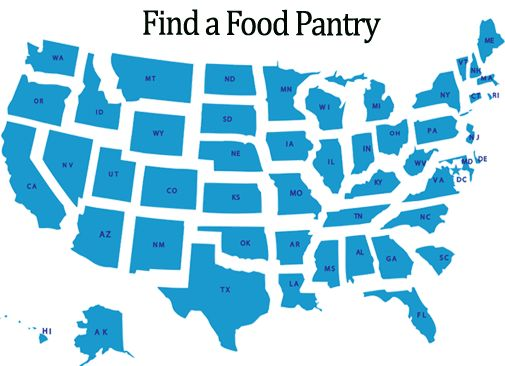 This is a link to FoodPantries.org. You can use their map to find a food pantry near you.