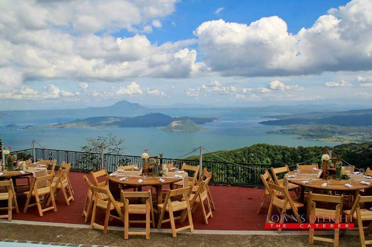 With scenic TaaL VoLcano 💕 Our Rustic Theme Wedding ❤  CasabLanca Private Mansion, Tagaytay, PhiLippines