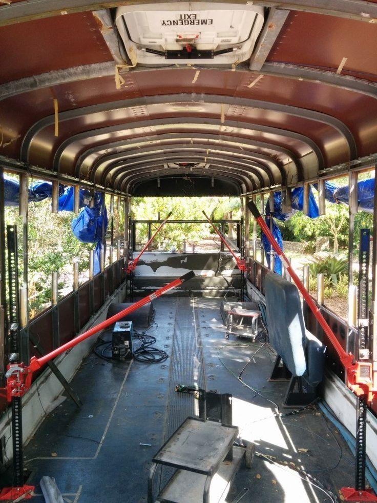 School Bus Raise the Roof Farm Jacks Contraption