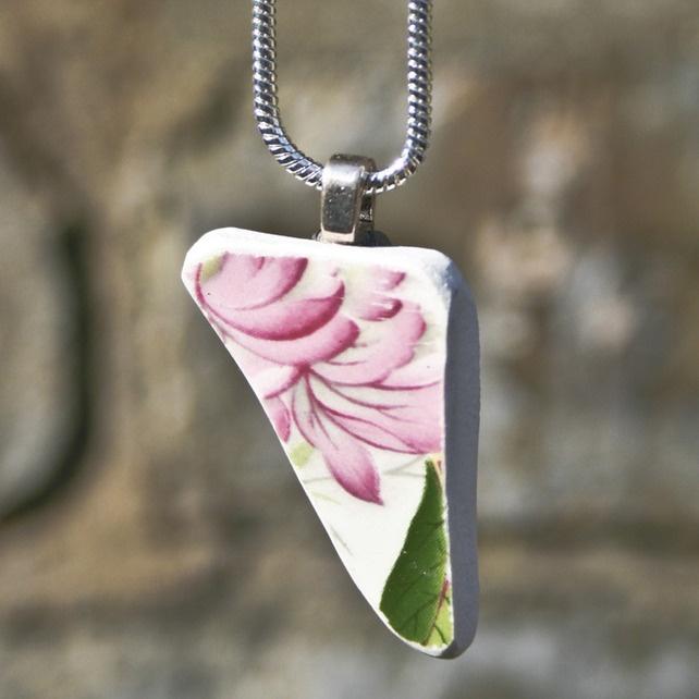 Pink Floral Vintage Necklace £12.99