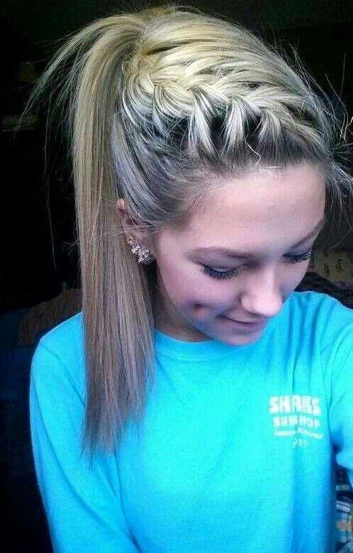 Blonde. Braid.