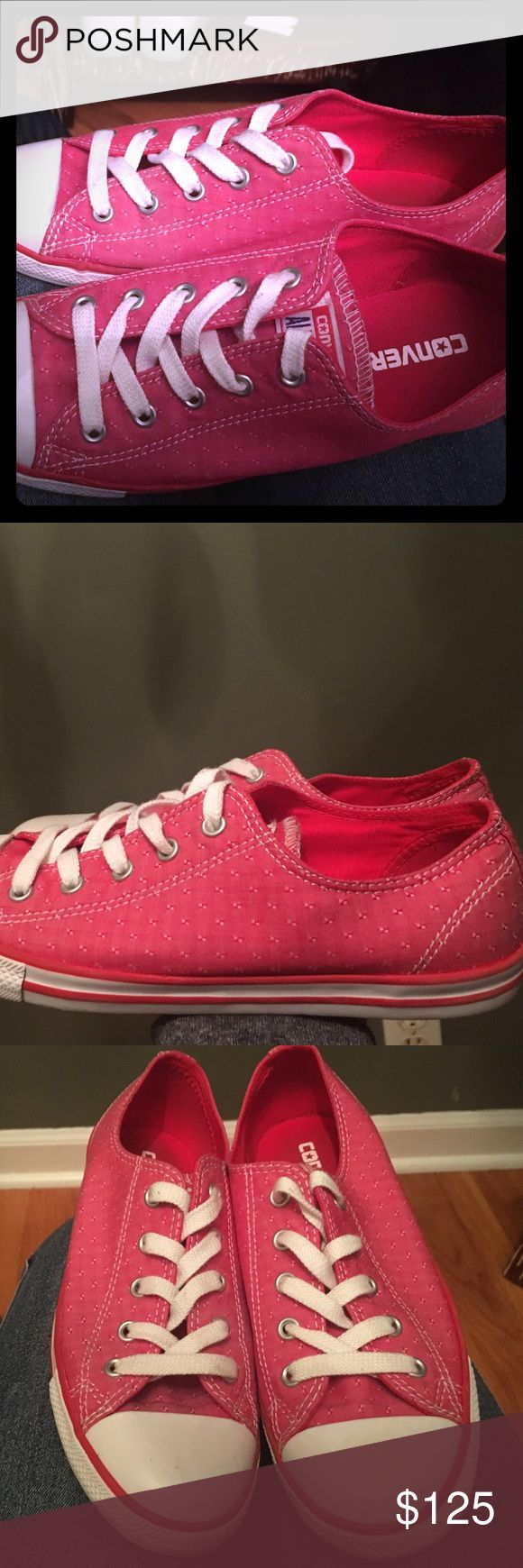 Red converse Barely worn Converse Shoes Sneakers
