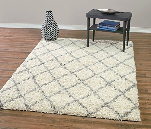 "Ivory and Grey Contemporary Beni Ourain Inspired Trellis Design 5 by 7 Modern Shaggy Area Rug (5'0""X7'0""), http://www.amazon.com/dp/B00SK925VU/ref=cm_sw_r_pi_awdm_8rsOwb1M1SFQW"