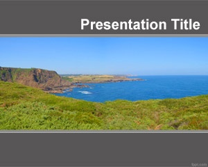 Natural landscape background for PowerPoint is a landscape PowerPoint template with a nice sky image and sea that you can use to create nature PowerPoint presentations