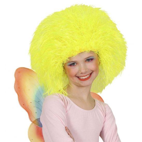 Neon gele kinder afropruiken  Neon gele afro pruik voor kinderen. Gele afro pruiken voor kinderen. Opvallend grote gele afro pruik voor bij een seventies outfit.  EUR 9.99  Meer informatie