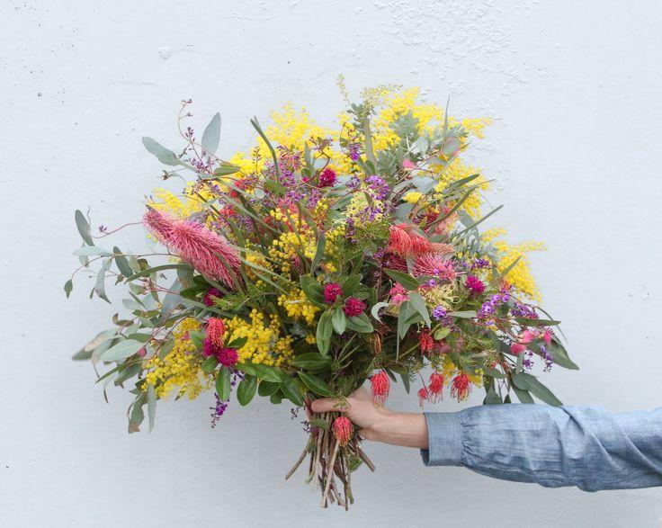 Australian winter wildflowers by Belinda Evans.