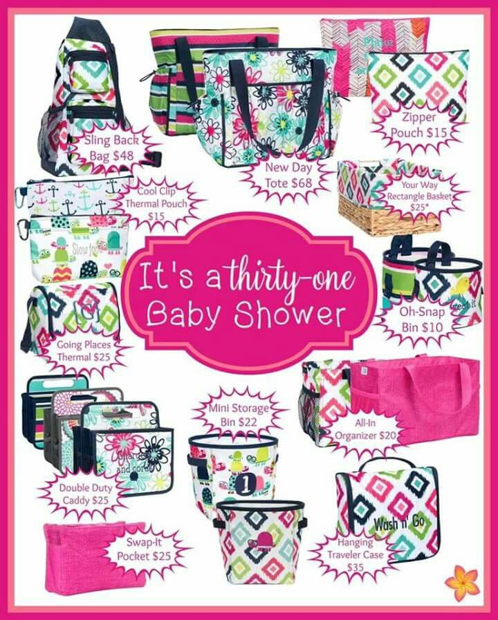 Planning for baby is a snap with Thirty-One. Shower the mama-to-be with the gift of organization. www.AimeeBuckert.com