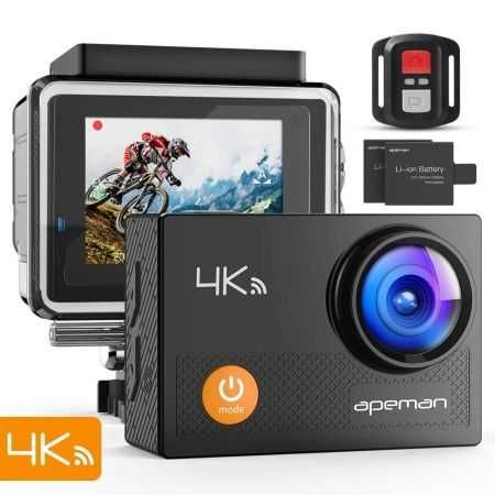 akaso 4k wifi sport action camera subacquea  apeman 4K 16MP Action Cam Wi-Fi Subacquea Ultra HD | PUNTOFFERTE ...