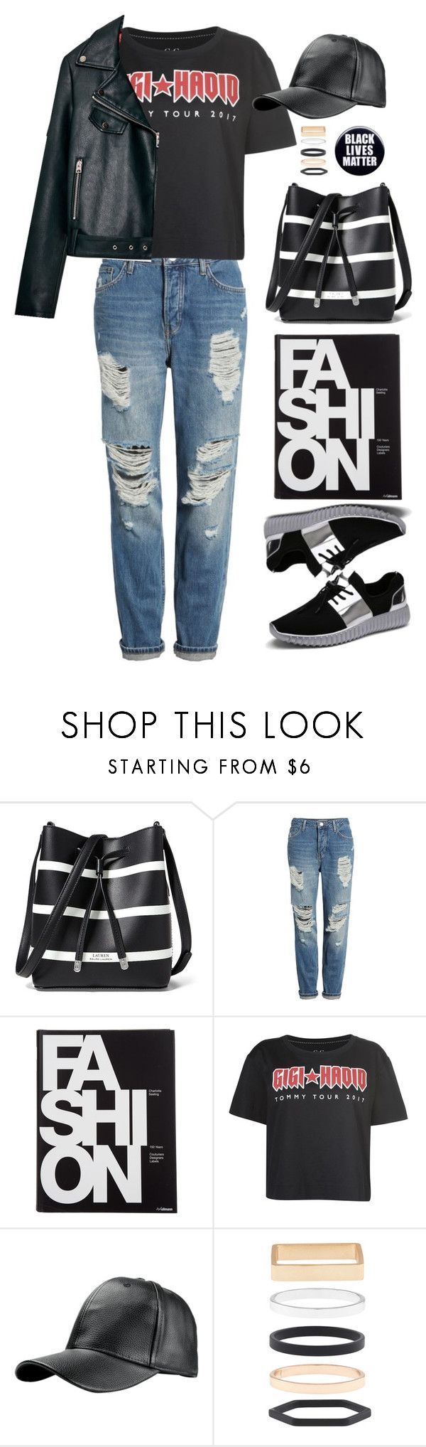 """""""Tshirt"""" by altrisa-mulla ❤ liked on Polyvore featuring Lauren Ralph Lauren, Topshop, Tommy Hilfiger, Accessorize and MyFaveTshirt"""