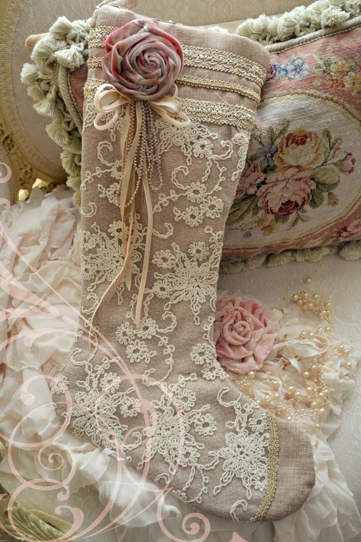Beautiful Christmas socking designed by Jennelise Rose