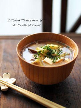 炒め野菜の味噌汁 レシピブログ