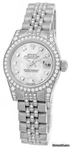 Rolex Diamond Super Diamond Datejust $27,690 #Rolex #watch #watches #chronographes 18K White Gold Rolex Diamond
