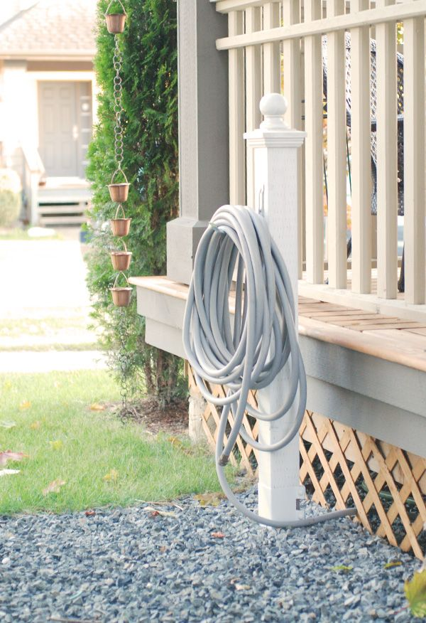 Garden Hose Storage Ideas ideas amazing garden hose holder made from wrought iron materials and have decorative designs with Hose Holder Tutorial 4x4 Post Metal Spike So No Post Holes Garden Hose Storagegarden