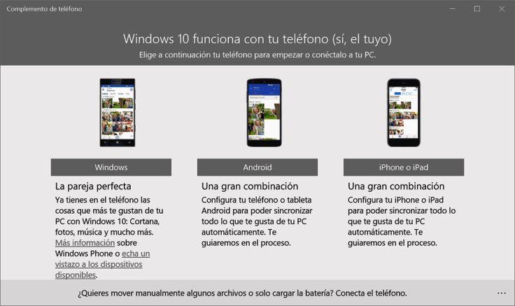 Conectar con el móvil en Windows 10