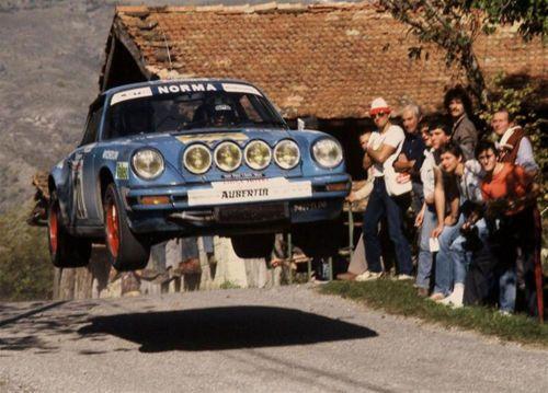 Porsche 911 Rally - catching air. #Porsche #Rally #Racing