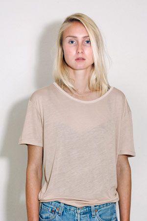 T-shirt 97 % soft organic bamboo, 3 % elastan