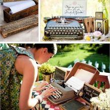 На печатной машинке - отличный вариант для свадьбы в стиле ретро