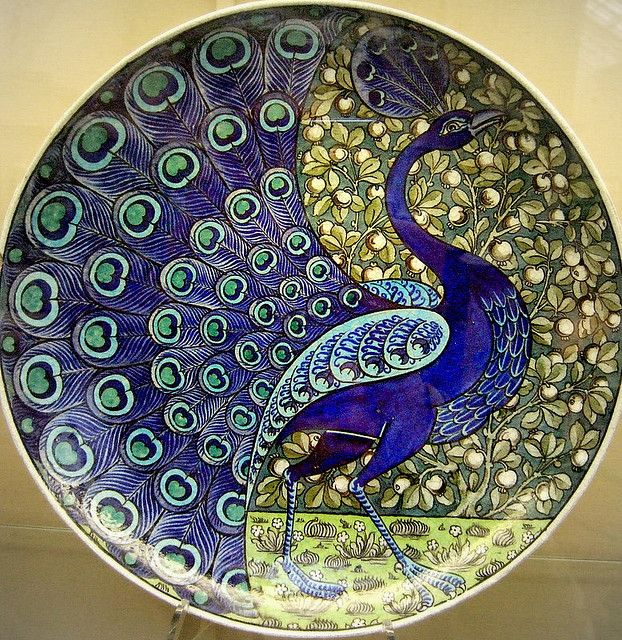 Peacock plate; c. 1888-1898; Birmingham Museum; photo by Kotomicreations