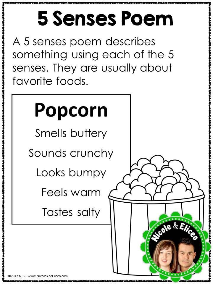 poetry anchor chart - great for kindergarten, first grade and second grade