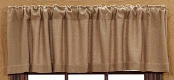 Our Burlap Natural Valance will compliment a variety of decorating styles and coordinates with bedding and kitchen items at Primitive Star Quilt Shop.