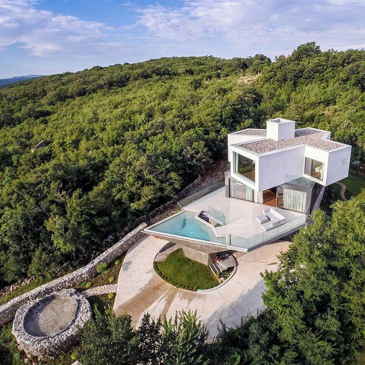 turato architecture stacks angular gumno house on croatian island - designboom | architecture