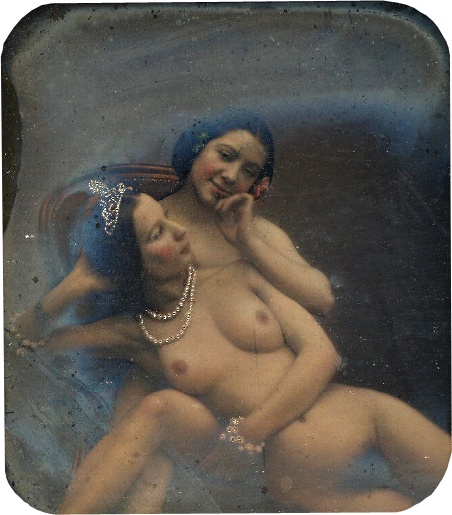 Naked Queen, Daguerreotype stereo nude, French, 1840 | Early Pictures