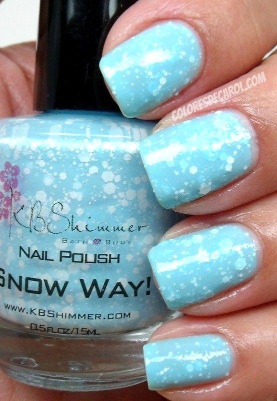 Nail Art Photos - Nails, Nail Polish, Nail Art / nail polish that looks like snow! - Pinnailart, Organize and Share Nail Art Photo/Image and Video You Love. Nail Art's Pinterest !