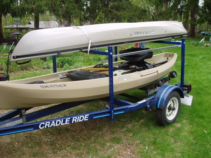 Page 3 of 4 - Kayak trailer options? - posted in Kayaking and Kayak Fishing Forum: Quote:  Originally Posted by Right-On   This trailer has round crossbars that accept all the Yakima and Thule stackers, hully rollers, and cargo boxes. Or in a pinch you can slit 2 swim noodles and put those over the cross bars before strapping down your kayak.