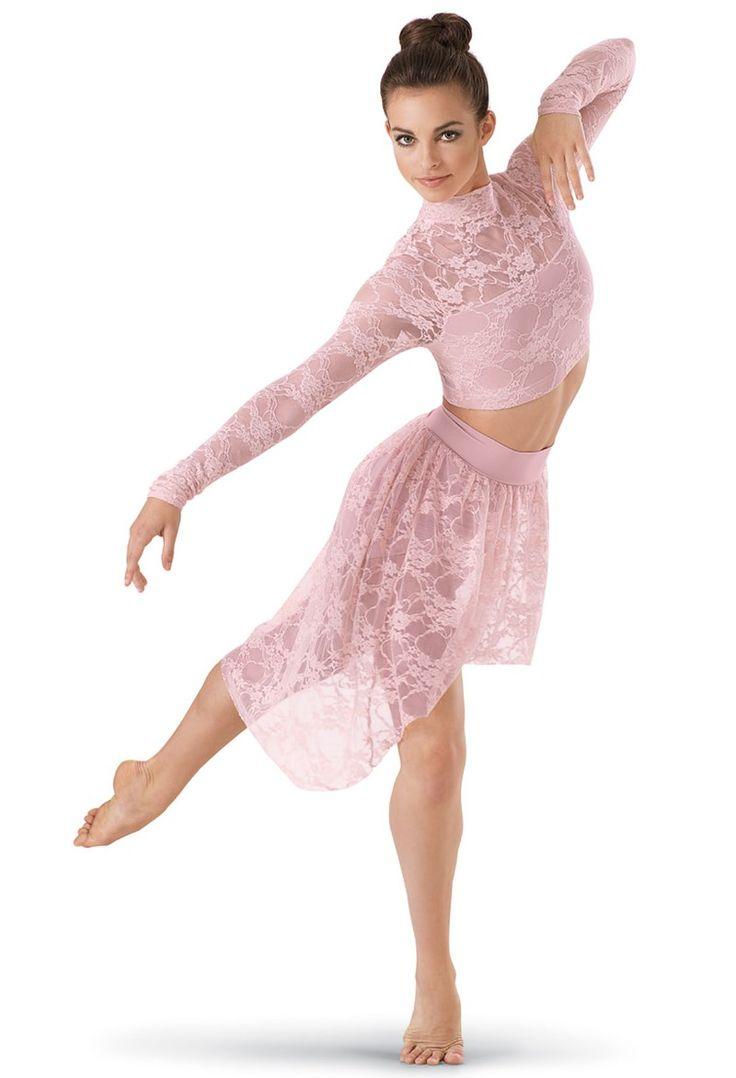 Women Adult Ballet Dance Dress Lyrical Lace Maxi Skirt Leotard Costume Dancewear