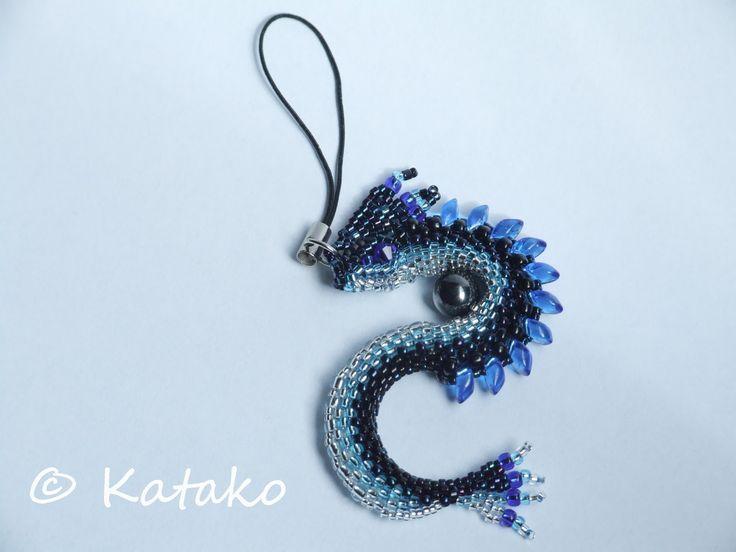 Katako: Smok w niebieskiej tonacji Dragon based on RRKRa's pattern
