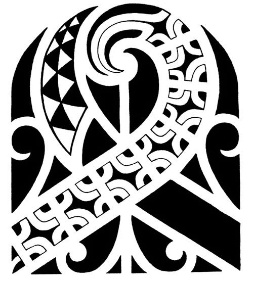 Polynesian Shoulder Tattoo Design With Marquesan Crosses Moray Eel
