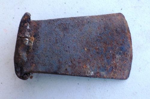 Vintage cast iron wood splitting wedge mawl s