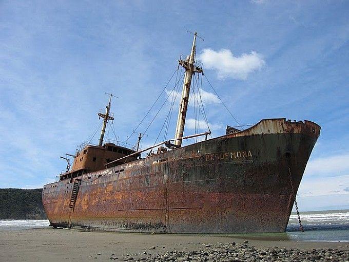 El Desdémona, varado en el Cabo San Pablo, Tierra del Fuego, Ushuaia