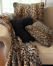 Animal print on a lovely sofa, I see it as @Elis Vink 's lovely home!: Leopard Print, Fur Throw, Accent Pillows, Adrienne Landau, Fur Pillows, Leopards Prints, Animal Prints, Throw Pillows, Animales Prints